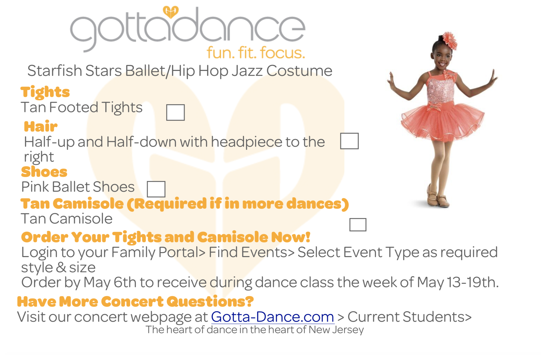 351607549720 The fee covers your dancer's costume, four concert tickets and the fees  associated with a full-scale professional production which includes,  lighting, ...